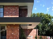 California - design home with recycled brick in the ...