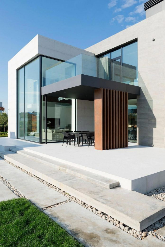 Elegant contemporary country house in the Suburbs of Pestovo Russia  CAANdesign  Architecture