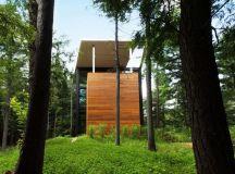 Modern house in the woods for Polish Sculptor Jacek ...