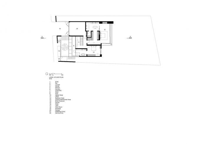 Three14Architects design OVD525, a minimalist home located
