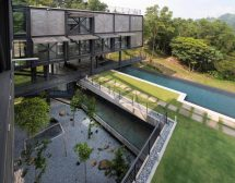 Exposed Structural Steel House Designed Float Over