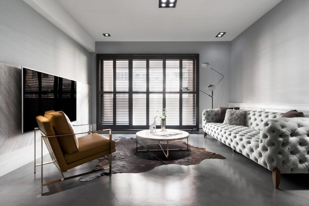 Old apartment in Taichung City gets an American style