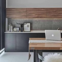 Modern Living Room Decor 2017 Unusual Wallpaper For Uk Wil's 11 Residence: With A Double Volume Wood ...