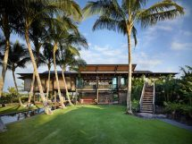 Hawaiian Home Set In Lush Tropical Landscape Inspired