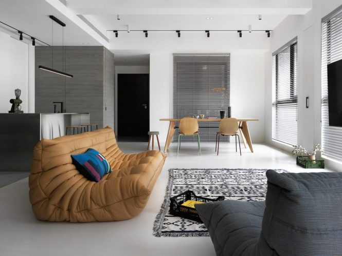 Project Intended For A Single Y Apartment With Two Main Colour Systems Grey And