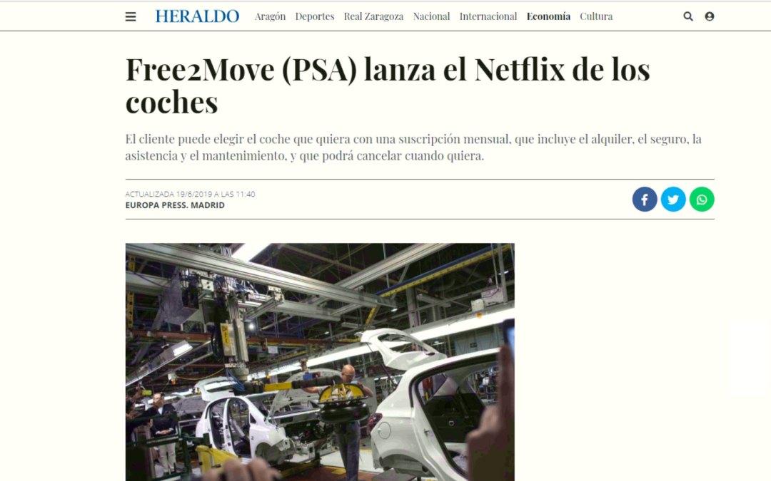 Free2Move (PSA) lanza el Netflix de los coches