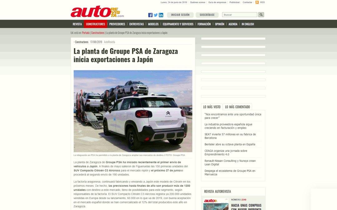 La planta de Groupe PSA de Zaragoza inicia exportaciones a Japón