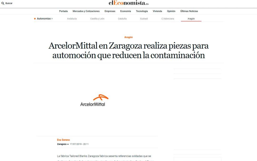 ArcelorMittal realiza piezas para automoción en Zaragoza que reducen la contaminación