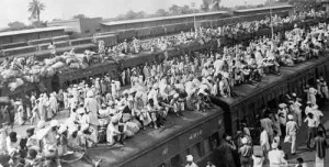 Emergency Trains crowded with refugees. Sometimes the trains would be attacked.