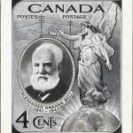 Alexander Graham Bell on a Canadian Stamp.
