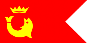 Something fishy with the flag of Awadh State. The fish is a Jewish symbol.