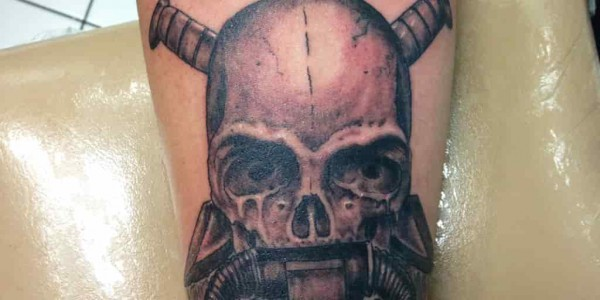 A USMC Recon Force Tattoo