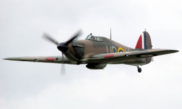 A Hurricane aircraft, similar to the ones the Nizam donated to Britain