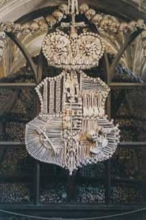 Schwarzenberg coat of arms, in human bone