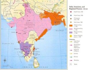 The Maratha Empire at its peak (Just before the Third Battle of panipat) © Malise Ruthven & Azim Nanji, Historical Atlas of Islam (Cambridge Massachusetts: Harvard University Press 2004)