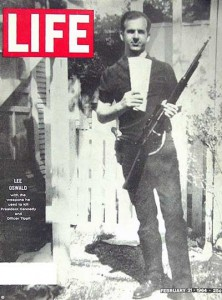 This well known image of Oswald clutching a rifle was circulated on the front cover of the Life Magazine. It was also shooped!
