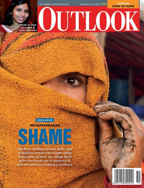 The town of Muzaffarnagar was established by the Sayyid Brothers, and to this day, continues to play a role in Illuminati conspiracies. Here it is on the front cover of Outlook Magazine, December 30th 2013. Note the one eye in the photograph, which is used to signal (or celebrate?) Illuminati involvement.