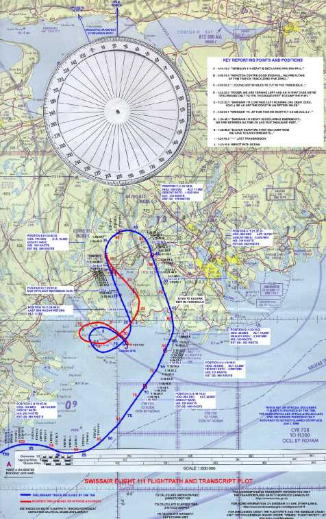 The SWR111 Flight path is revised to accommodate Harry Publicover's account.