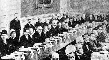 A rare photo of Jinnah and Agha Khan III at the Round Table Conference in London, 1931. The Round Table Movement was a network of Secret Societies dedicated to preserving British interests. The Round Table Movement may have been headed by racist imperialist Cecil Rhodes.