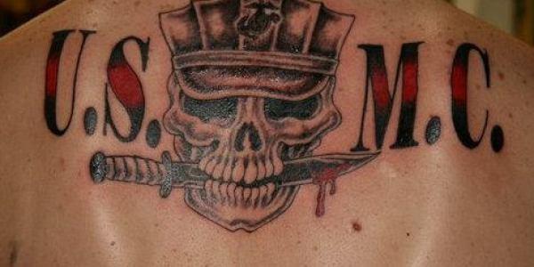 A USMC Skull Tattoo
