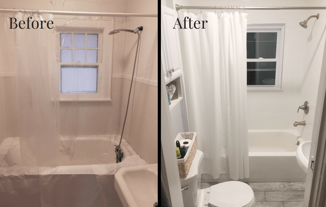Our Small Bathroom Remodel On A Budget Cabana State Of Mind - Small bathroom updates on a budget