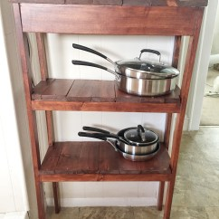 Kitchen Console Dish Drying Mat Diy Table Cabana State Of Mind Shelving Unit Shelves Storage