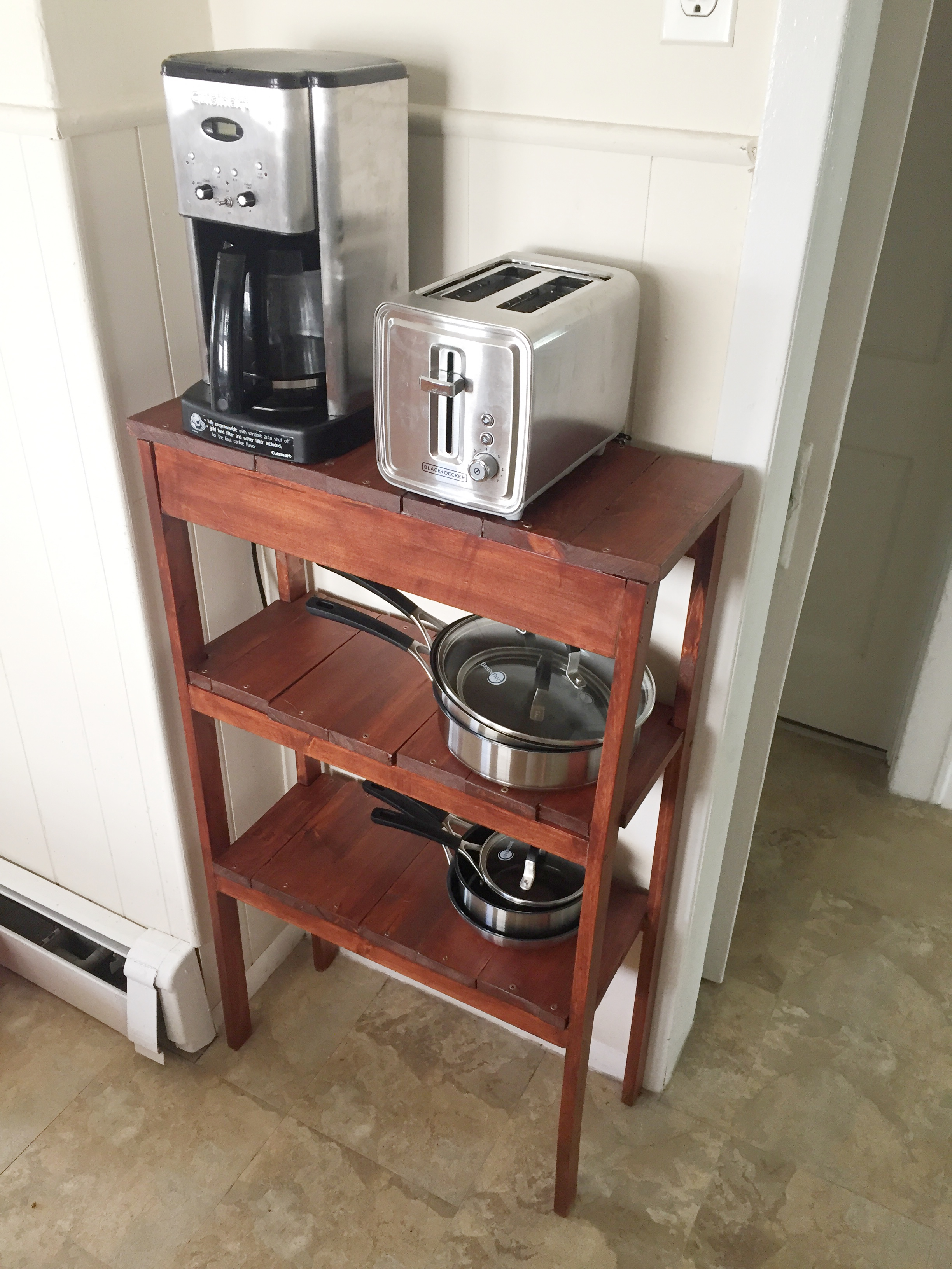 kitchen console table handmade sinks diy cabana state of mind shelving unit