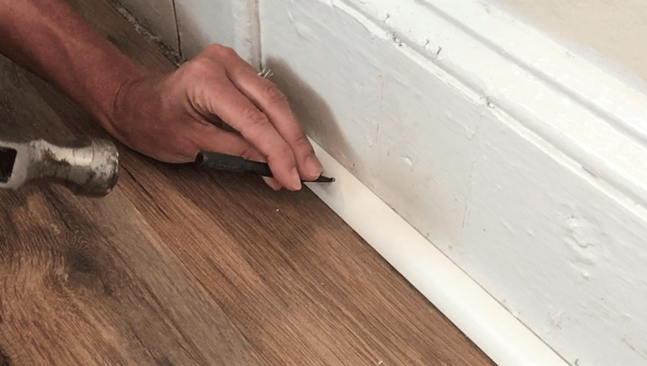How To Install Quarter Round Molding With A Hammer And Nails