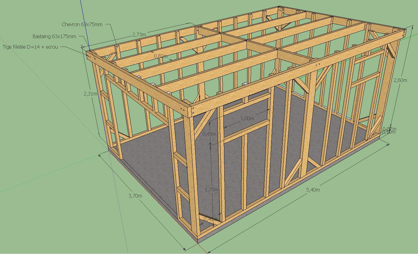 Plan dabri de jardin en bois gratuit  Cabanes abri jardin