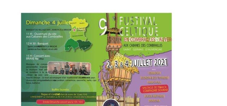 9eme Fustival Celtique de St Gervais d'Auvergne les 2,3 et 4 Juillet 2021