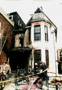 The house was damaged in 1995