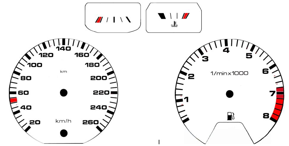temperature gauge wiring diagram for four way switch gauges indicators vdo overlay template mk2 cluster