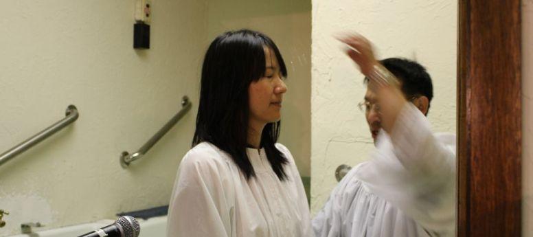 2013-06-02 Baptism – Belle, Alan and Karen