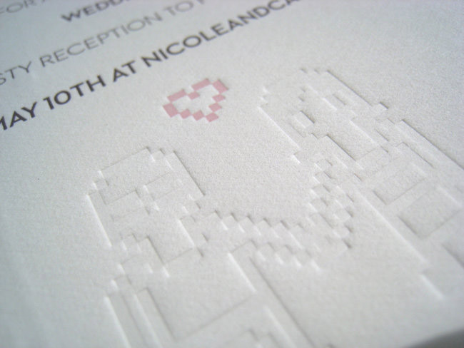 Here is a detail from the letterpress invites.