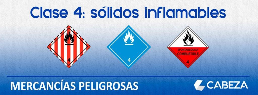 mercancias peligrosas clase 4 solidos inflamables
