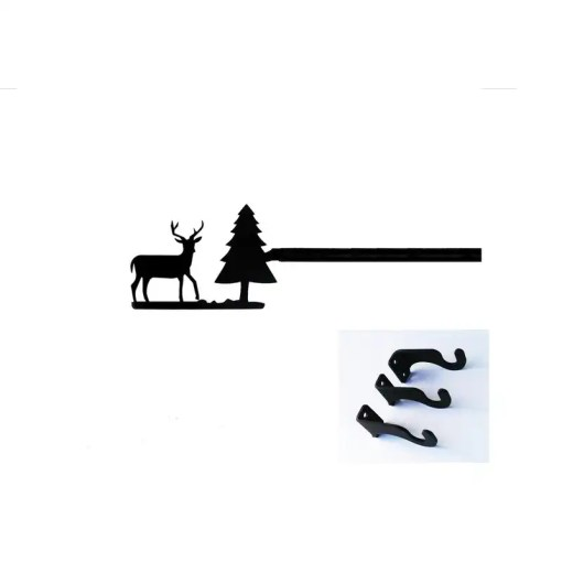 Deer extra long curtain rod