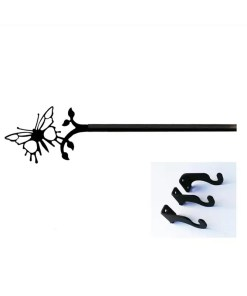Butterfly extra Long Curtain Rod