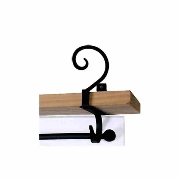 Curl Curtain Rod Shelf Brackets