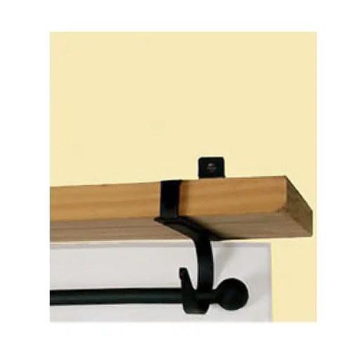 Plain Curtain Rod Shelf Brackets