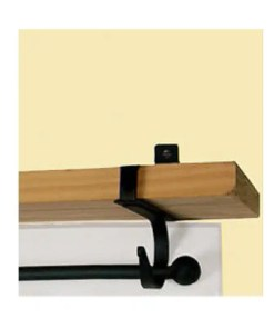 Plain Curtain Rod Shelf Brackets
