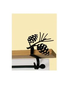 Pinecone Curtain Rod Shelf Brackets