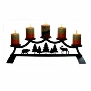 Cabin-Fireplace-Decor-Candelabra