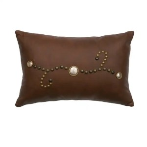 Harness Leather Brown Pillow