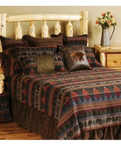 Cabin King Bear Bedspread