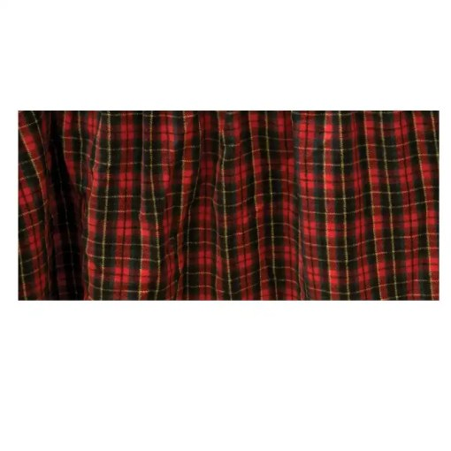 Red Plaid Bedskirt