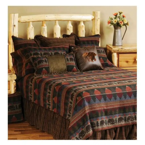 Cabin Bear Twin Bedspread