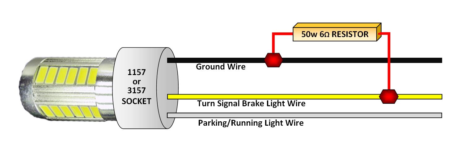 cabin bright 50 watt 6 ohm resistor kit for led taillights led sub box