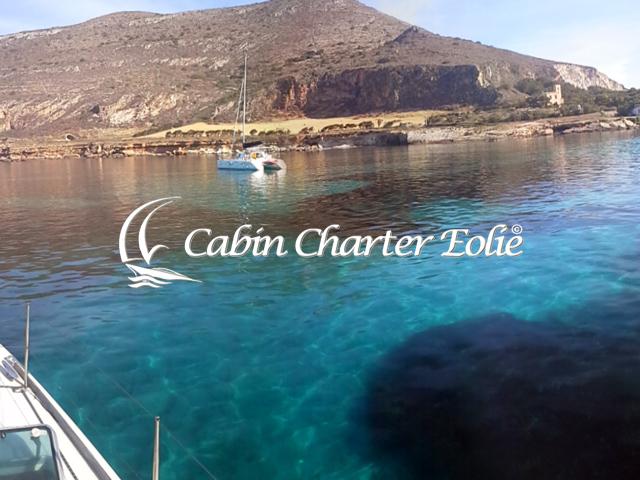 Isole Egadi - Favignana - Cabin Charter Eolie - Catamarano - Single 640