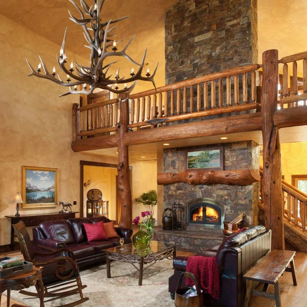 common area with elegant fireplace at the best hotel