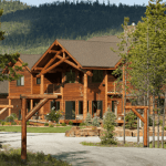 FAQs Contact Cabin Creek Landing B&B entrance with view of the lodge
